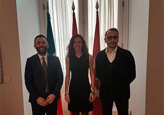 DELEGAZIONE DEL LAZIO A MADRID: IL PRESIDENTE BUSCHINI INCONTRA MARIA EUGENIA CARBALLEDO