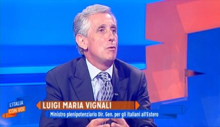 """RAI ITALIA/ VIGNALI (DGIT) E VELLANO (DGSP) A """"L'ITALIA CON VOI"""""""