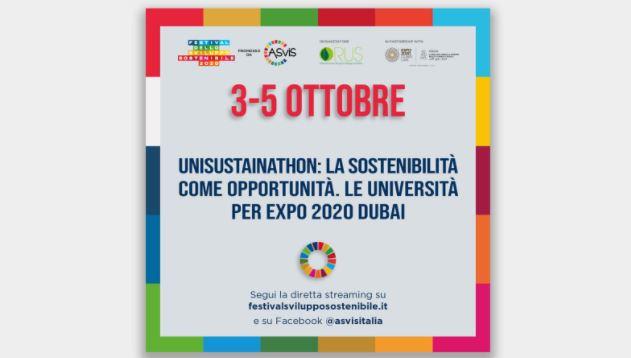 """""""UNISUSTAINATHON"""": PADIGLIONE ITALIA, ASVIS E RUS INSIEME PER GLI OBIETTIVI DELL'AGENDA 2030"""