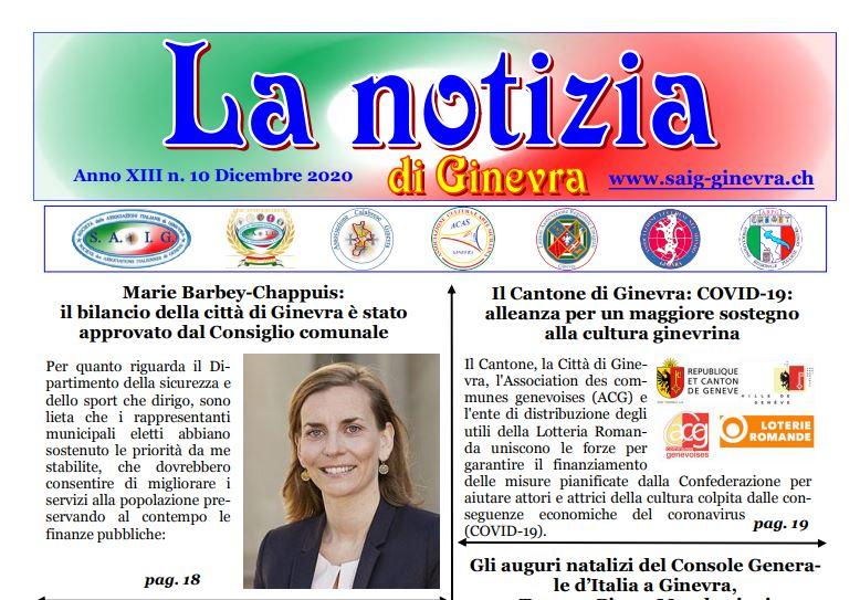 """Online il nuovo numero de """"La notizia di Ginevra"""""""