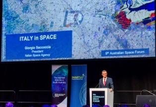 L'ASI AL 9TH AUSTRALIAN SPACE FORUM DI ADELAIDE: L'INTERVENTO DEL PRESIDENTE SACCOCCIA
