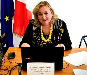 LIBIA: DEL RE AL WEBINAR SULLA COOPERAZIONE ITALIA-FRANCIA