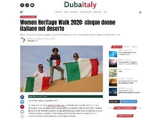 WOMEN HERITAGE WALK 2020: CINQUE DONNE ITALIANE NEL DESERTO - di Adriana Ranalli e Giacinta Acerbi