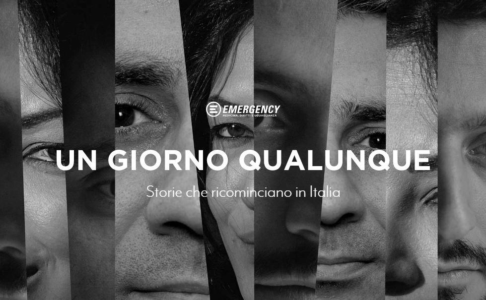 """""""Un giorno qualunque. Storie che ricominciano in Italia"""": online la mostra Emergency-AICS"""