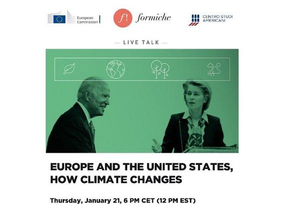 """""""Italia-Usa: come cambia il clima"""": giovedì dibattito online"""