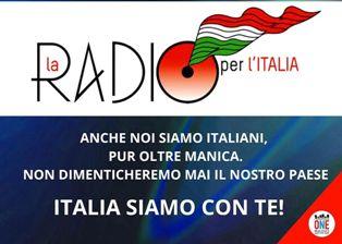 ANCHE LONDONONERADIO COLLEGATO CON LE RADIO ITALIANE PER SUONARE L'INNO DI MAMELI