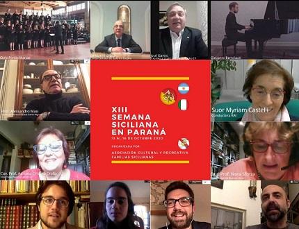 ARGENTINA: CONCLUSA LA 13° SETTIMANA SICILIANA A PARANÁ