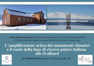"""LE ATTIVITÀ DELLA BASE """"DIRIGIBILE ITALIA"""" ALLE SVALBARD IN UNA CONFERENZA DI FABIO TRINCARDI (CNR) A OSLO"""