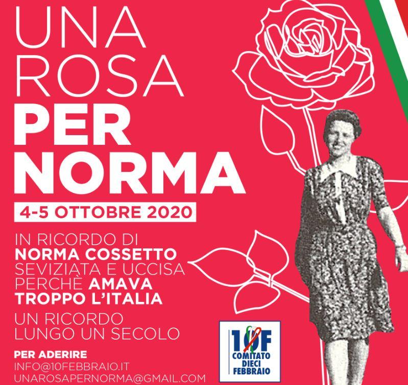 """""""UNA ROSA PER NORMA COSSETTO"""": 130 CITTÀ RICORDANO LA GIOVANE ISTRIANA"""