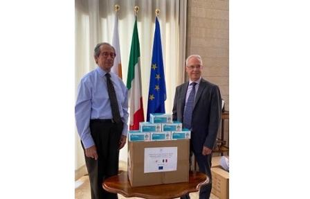 LOTTA AL CORONAVIRUS: DA CIPRO UNA DONAZIONE DI MASCHERINE PROTETTIVE