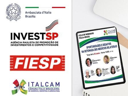 INVESTIMENTI ITALIANI A SAN PAOLO: IL WEBINAR CON AMBASCIATA ITALCAM, INVEST SP E FIESP