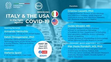 WASHINGTON: ITALIA E USA INSIEME NELLA LOTTA CONTRO COVID-19