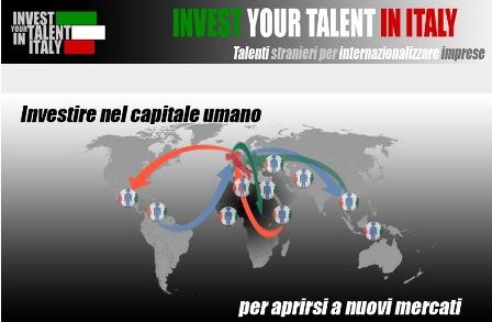 INVEST YOUR TALENT IN ITALY: APERTO IL BANDO 2020