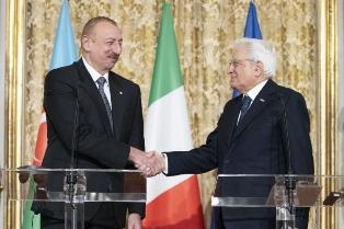 ITALIA – AZERBAIGIAN: MATTARELLA INCONTRA ALIYEV