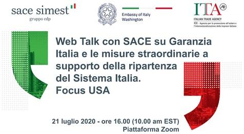 GARANZIA ITALIA E NON SOLO: FOCUS USA NEL WEB TALK DI ICE E SACE