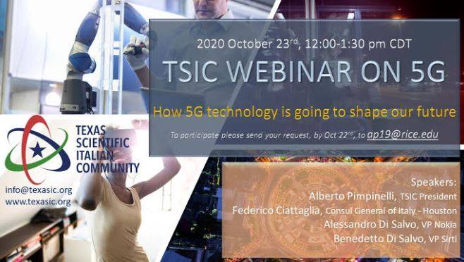 TEXAS: 5G E FUTURO TECNOLOGICO NEL WEBINAR DEL TSIC