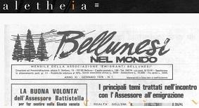 """CENTROSTUDIALETHEIA.IT: ONLINE I PRIMI DIECI ANNI DELLA RIVISTA """"BELLUNESI NEL MONDO"""""""