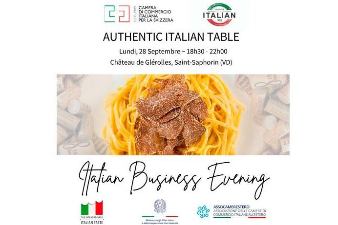 ITALIAN BUSINESS EVENING: ALLA CCI SVIZZERA L'AGROALIMENTARE ITALIANO