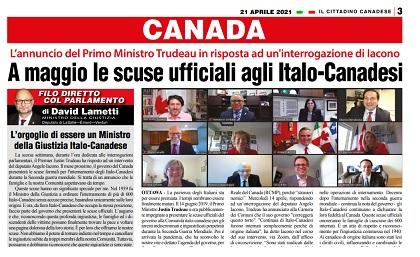 Canada: a maggio le scuse ufficiali agli Italo-Canadesi – di Vittorio Giordano