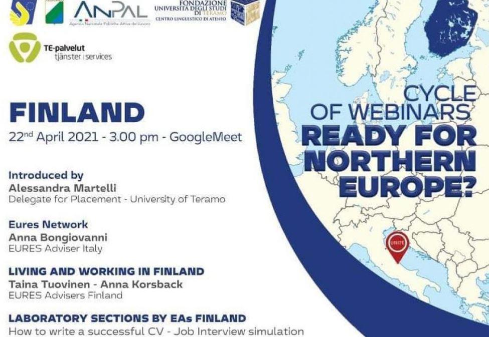 Eures: domani webinar sulle opportunità di lavoro in Finlandia