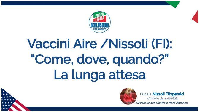 """Vaccini Aire/Nissoli (Fi) al Governo: """"come, dove, quando?"""""""