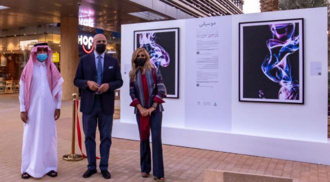 """ARABIA SAUDITA: L'AMBASCIATA INAUGURA LA MOSTRA DI MICHELE ARDU """"MUSICA"""""""