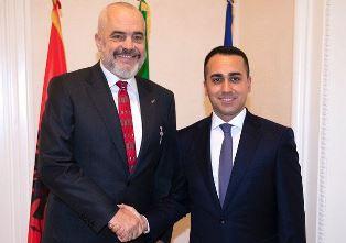 IL MINISTRO DI MAIO INCONTRA IL PRIMO MINISTRO D'ALBANIA EDI RAMA