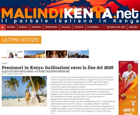 PENSIONATI IN KENYA: FACILITAZIONI ENTRO LA FINE DEL 2020