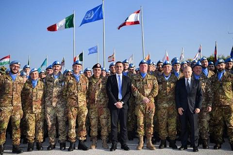DI MAIO INCONTRA I MILITARI ITALIANI IN LIBANO