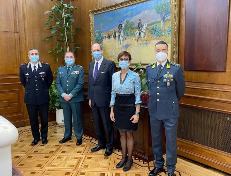 Madrid: l'Ambasciatore Guariglia incontra la Guardia Civil spagnola