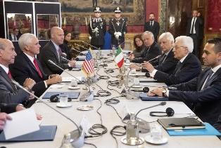 ITALIA – USA: MATTARELLA INCONTRA PENCE