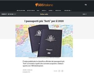 """I PASSAPORTI PIÙ """"FORTI"""" PER IL 2020 - di Maurizia Tinti"""