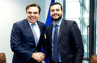 IL SOTTOSEGRETARIO SIBILIA INCONTRA IL COMMISSARIO UE SCHINAS