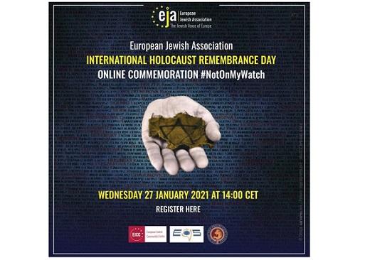 Giornata della Memoria: mercoledì incontro online con l'European Jewish Association