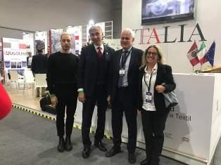 EXPOTEXIL PERÙ: L'AMBASCIATORE CURCIO VISITA LO SPAZIO ICE