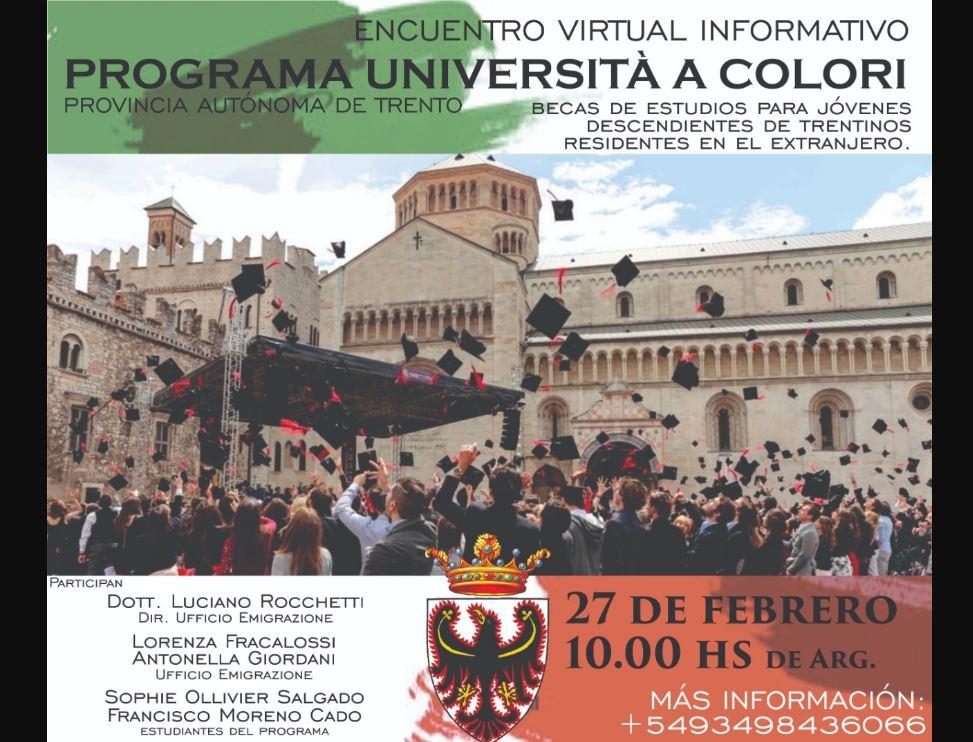 Trento-Argentina: incontro informativo per il Programma Università a Colori
