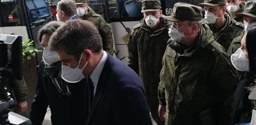 CORONAVIRUS/ A BERGAMO LA DELEGAZIONE DI MEDICI E INFERMIERI RUSSI