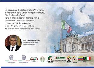 CASINI DA DOMANI IN VENEZUELA: GLI INCONTRI CON I CONNAZIONALI A CARACAS E MARACAIBO