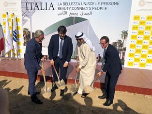 EXPO DUBAI: POSATA LA PRIMA PIETRA DEL PADIGLIONE ITALIA