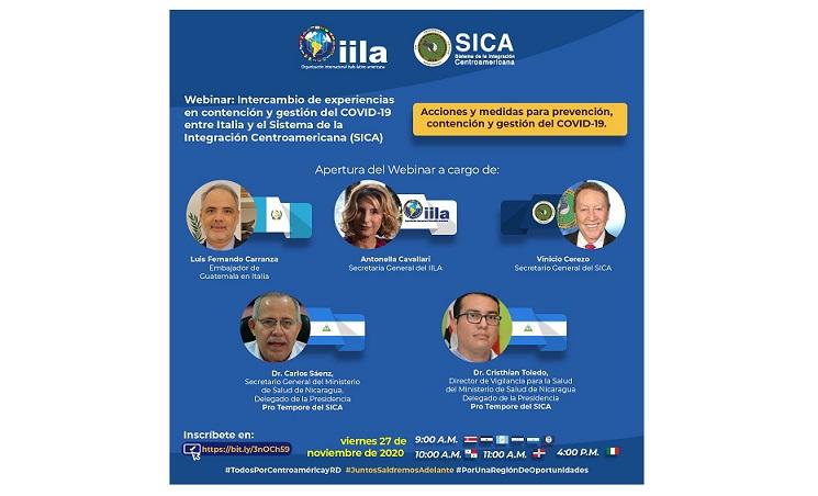 GESTIONE DEL COVID-19 TRA AMERICA-LATINA E ITALIA: L'IILA INCONTRA IL SICA