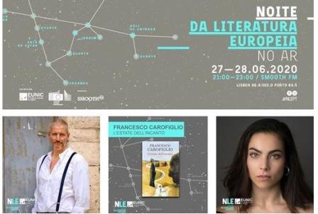 """LISBONA: FRANCESCO CAROFIGLIO RAPPRESENTA L'ITALIA ALLA NOTTE DELLA LETTERATURA EUROPEA """"ON AIR"""""""