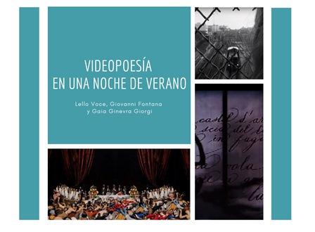 VIDEOPOESÍA EN UNA NOCHE DE VERANO: IL NUOVO PROGETTO DELL'IIC DI MADRID