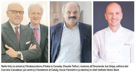 """L'AMBASCIATORE TAFFURI SUGLI ITALO CANADESI: """"HANNO MOSTRATO IL LORO AMORE PER L'ITALIA"""" – di Giorgio Mitolo"""