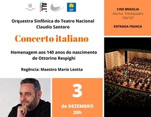 """""""CONCERTO ITALIANO"""": CONCLUSIONE IN MUSICA PER IL PROGRAMMA CULTURALE 2019 DELL'AMBASCIATA A BRASILIA"""