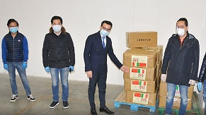 CORONAVIRUS/ COMUNITÀ CINESE SARDA DONA 50.000 MASCHERINE ALLA REGIONE