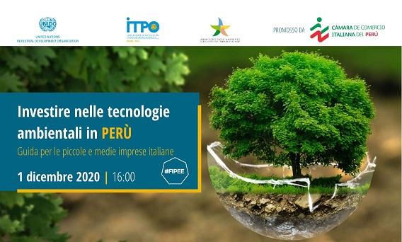 TECNOLOGIE AMBIENTALI IN PERÙ: WEBINAR DI UNIDO ITPO ITALY PER PMI ITALIANE