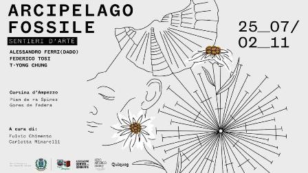 """SENTIERI D'ARTE: IN LUGLIO LA PRESENTAZIONE DE """"L'ARCIPELAGO FOSSILE"""" A CORTINA D'AMPEZZO"""