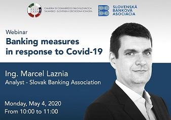 MISURE BANCARIE IN RISPOSTA AL COVID-19: IL WEBINAR DELLA CAMERA DI COMMERCIO ITALO-SLOVACCA