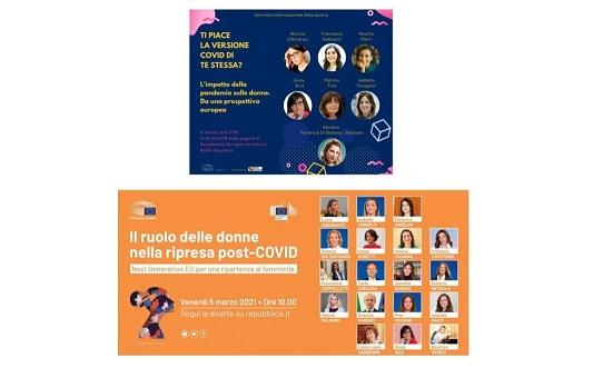 Giornata internazionale della donna 2021 con il Parlamento Ue in Italia