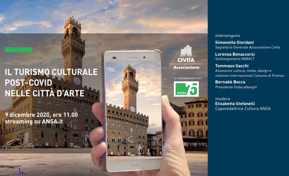 IL TURISMO CULTURALE POST-COVID NELLE CITTÀ D'ARTE: IL WEBINAR DELL'ASSOCIAZIONE CIVITA